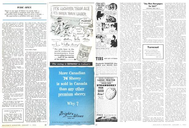 Article Preview: WIDE OPEN, Jan - Dec. 1954 1954 | Maclean's