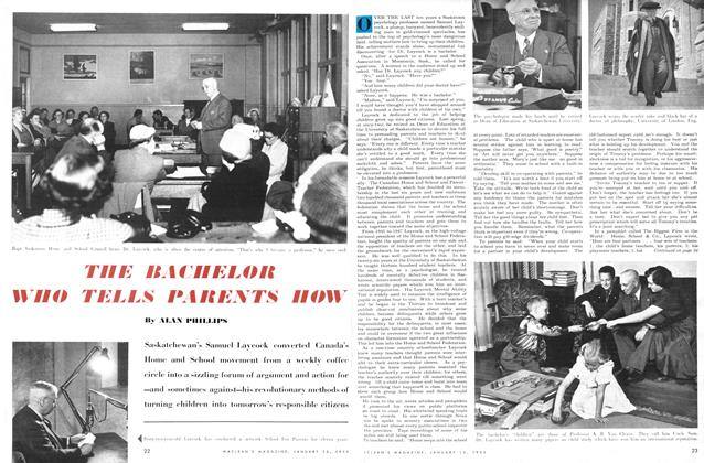 Article Preview: THE BACHELOR WHO TELLS PARENTS HOW, January 1954 | Maclean's