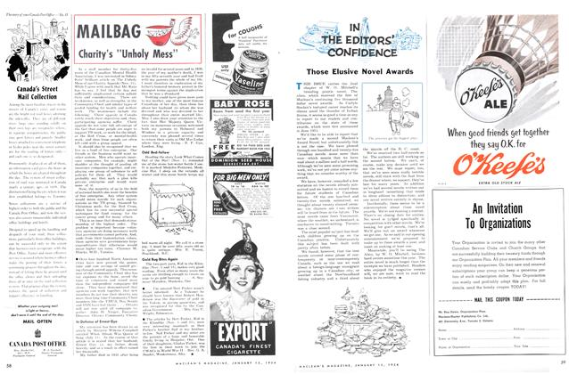 Article Preview: Those Elusive Novel Awards, January 1954 | Maclean's