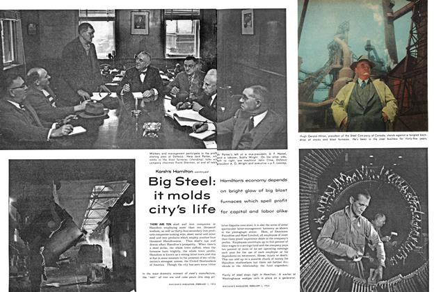 Article Preview: Big Steel: it molds city's life, February 1954 | Maclean's