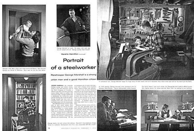Article Preview: Portrait of a steelworker, February 1954 | Maclean's