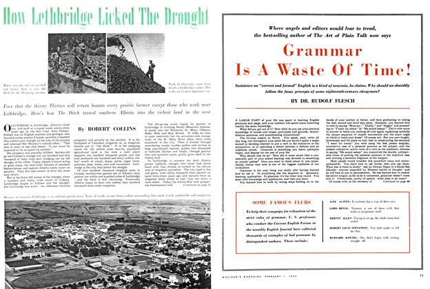 Article Preview: How Lethbridge Licked The Drought, February 1954 | Maclean's