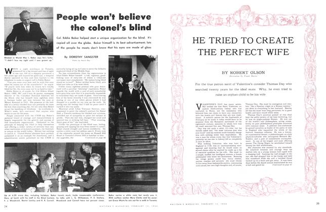 Article Preview: People won't believe the colonel's blind, February 1954 | Maclean's