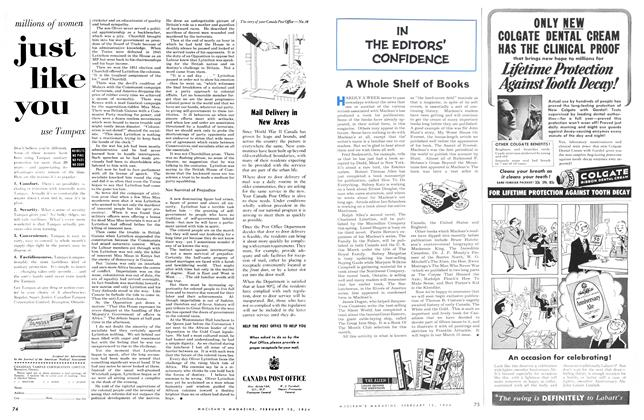 Article Preview: A Whole Shelf of Books, February 1954 | Maclean's