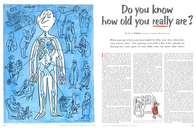 Article Preview: Do you know how old you really are?, February 1954 | Maclean's