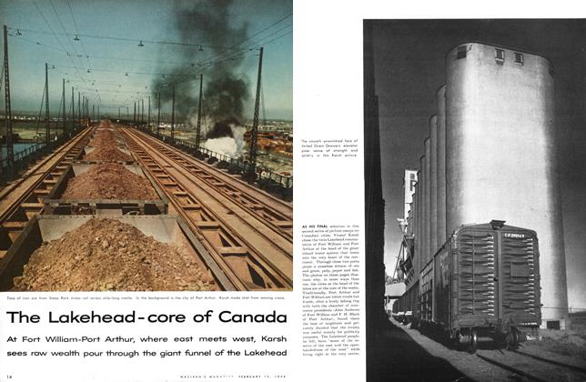 Article Preview: The Lakehead-core of Canada, February 1954 | Maclean's