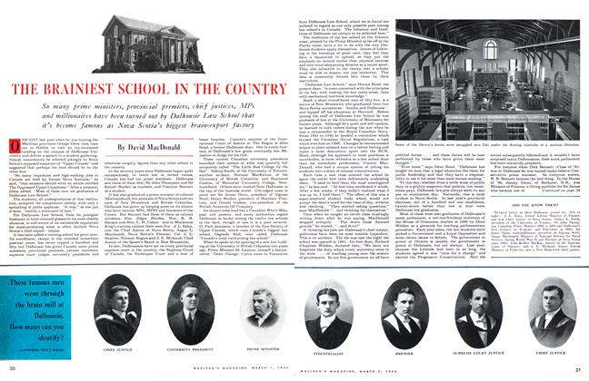 Article Preview: THE BRAINIEST SCHOOL IN THE COUNTRY, March 1954 | Maclean's