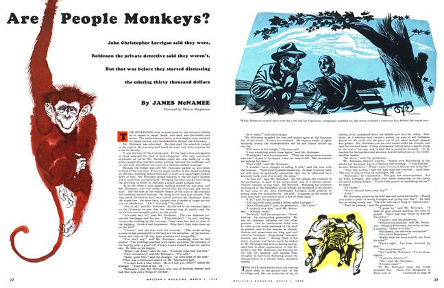 Article Preview: Are People Monkeys?, March 1954 | Maclean's