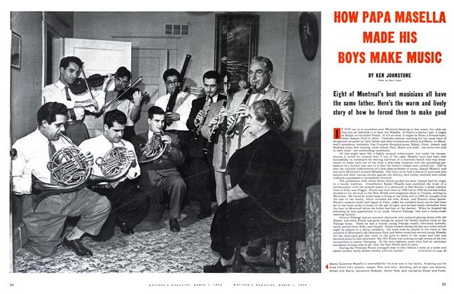 Article Preview: HOW PAPA MASELLA MADE HIS BOYS MAKE MUSIC, March 1954 | Maclean's