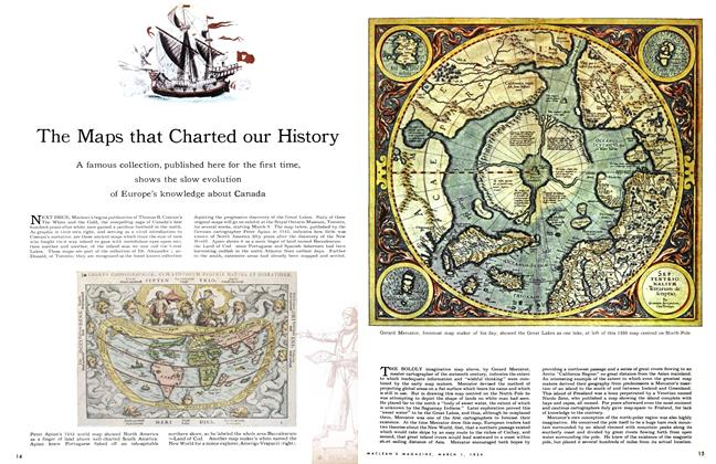 Article Preview: The Maps that Charted our History, March 1954 | Maclean's