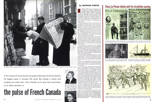 Article Preview: the pulse of French Canada, March 1954 | Maclean's
