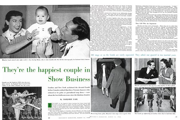 Article Preview: They're the happiest couple in Show Business, March 1954 | Maclean's