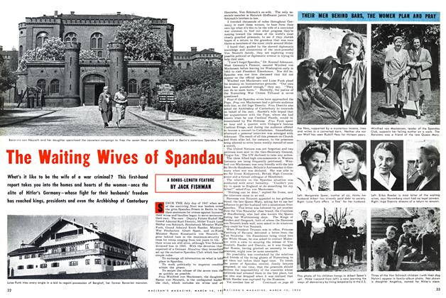Article Preview: The Waiting Wives of Spandau, March 1954 | Maclean's