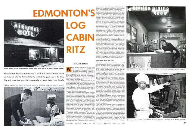 Article Preview: EDMONTON'S LOG CABIN RITZ, March 1954   Maclean's