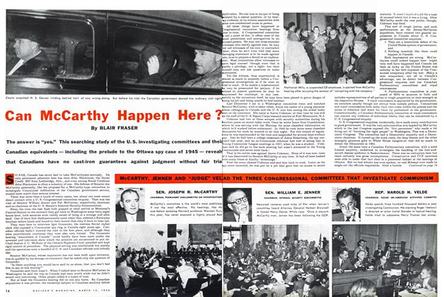 Article Preview: Can McCarthy Happen Here ?, March 1954 | Maclean's