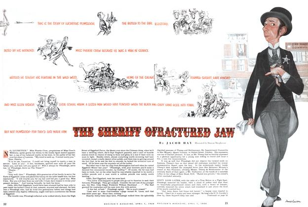 Article Preview: THE SHERIFF OFRACTURED JAW, April 1954 | Maclean's