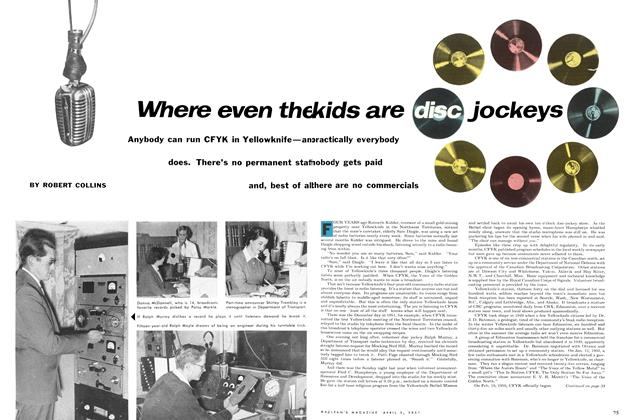Article Preview: Where even the kids are disc jockeys, April 1954 | Maclean's