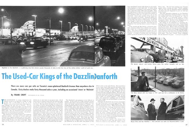 Article Preview: The Used-Car Kings of the Dazzling Danforth, April 1954 | Maclean's