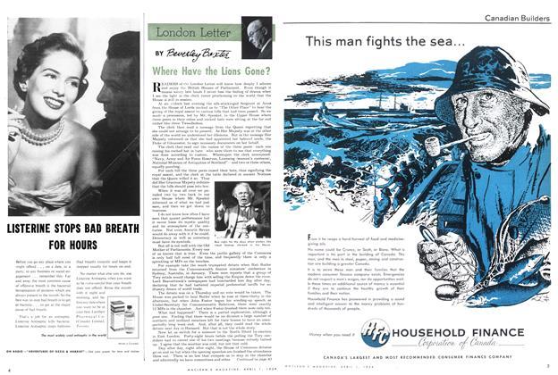 Article Preview: London Letter, April 1954 | Maclean's