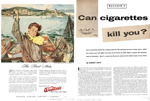 Article Preview: Can cigarettes kill you?, April 1954 | Maclean's