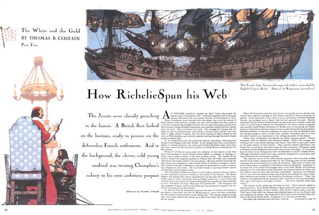 Article Preview: How Richelieu Spun his Web, April 1954 | Maclean's