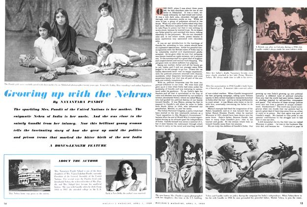 Article Preview: Growing up with the Nehrus, April 1954 | Maclean's