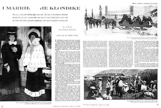 Article Preview: I MARRIE THE KLONDIKE, April 1954 | Maclean's