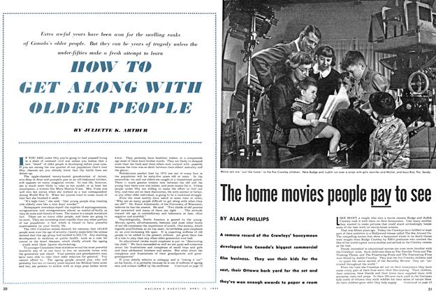 Article Preview: The home movies people pay to see, April 1954 | Maclean's