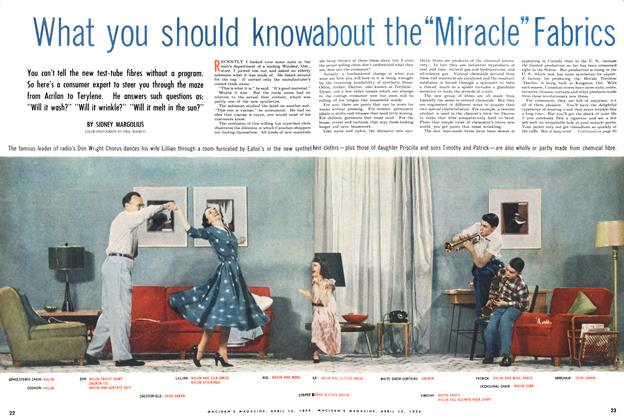 """Article Preview: What you should know about the """"Miracale"""" Fabrics, April 1954 