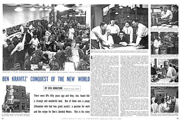 Article Preview: BEN KRAVITZ' CONQUEST OF THE NEW WORLD, April 1954 | Maclean's