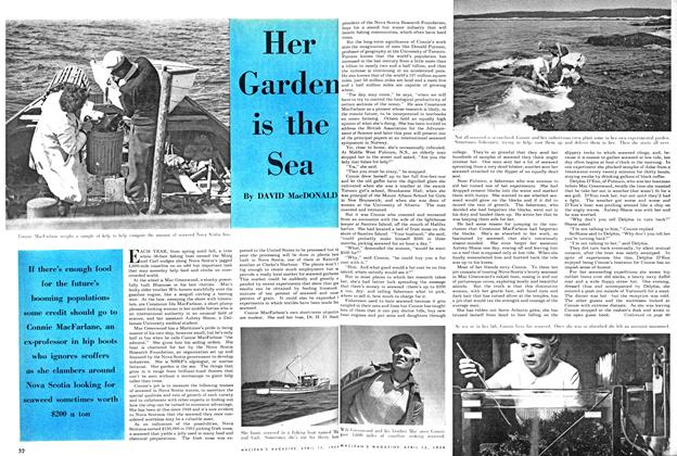 Article Preview: Her Garden is the Sea, April 1954 | Maclean's