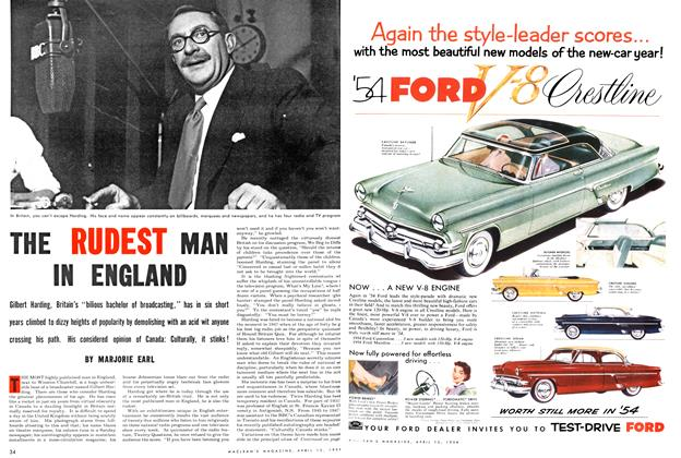 Article Preview: THE RUDEST MAN IN ENGLAND, April 1954 | Maclean's