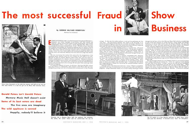 Article Preview: The most successful Fraud Show in Business, May 1954 | Maclean's
