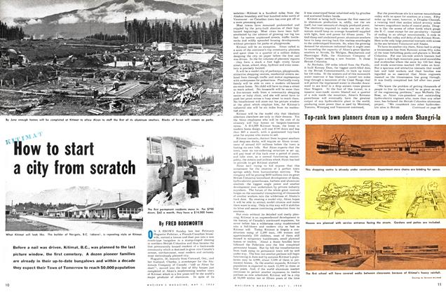 Article Preview: How to start a city from scratch, May 1954 | Maclean's