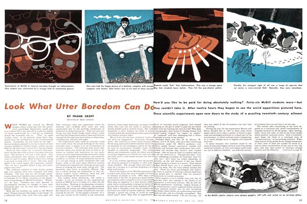 Article Preview: Look What Utter Boredom Can Do, May 1954 | Maclean's