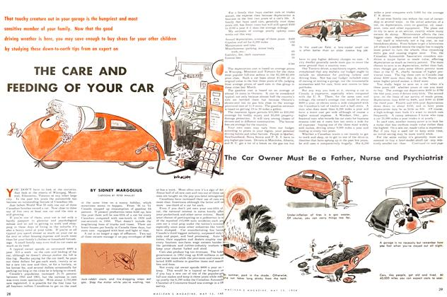 Article Preview: THE CARE AND FEEDING OF YOUR CAR, May 1954 | Maclean's