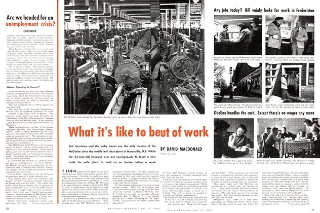 Article Preview: What it's like to be out of work, May 1954 | Maclean's
