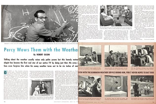 Article Preview: Percy Wows Them with the Weather, May 1954 | Maclean's