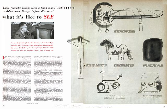Article Preview: what it's like to SEE, June 1954 | Maclean's