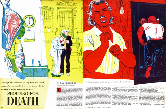 Article Preview: SHOPPING FOR DEATH, June 1954 | Maclean's