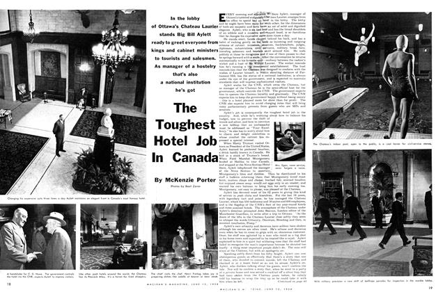 Article Preview: The Toughest Hotel Job In Canada, June 1954 | Maclean's