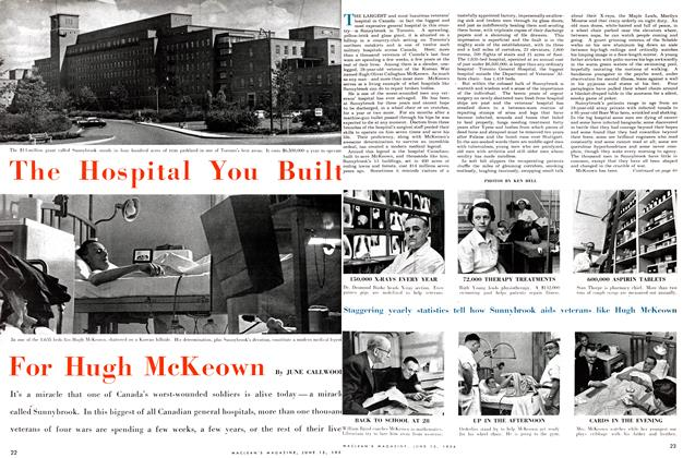 Article Preview: The Hospital You Built For Hugh Macedon, June 1954 | Maclean's