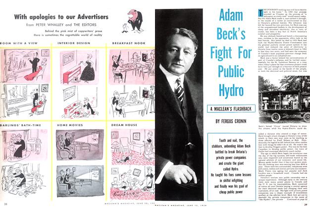 Article Preview: Adam Beck's Fight bFor Public Hydro, June 1954 | Maclean's