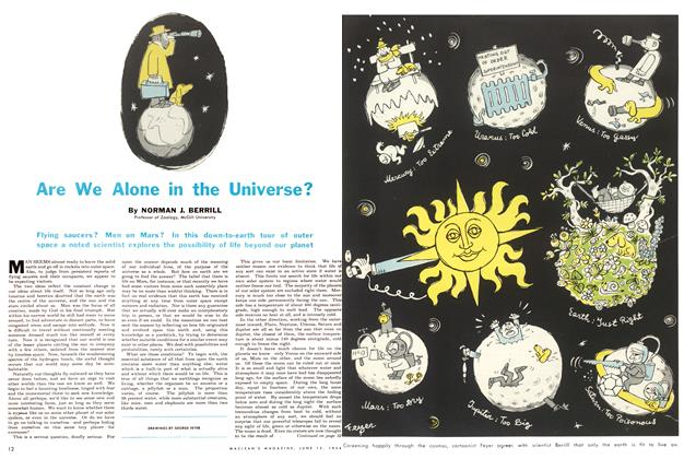 Article Preview: Are We Alone in the Universe?, June 1954 | Maclean's