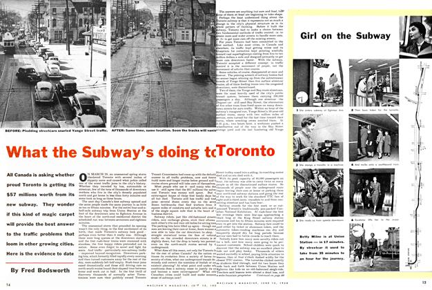 Article Preview: What the Subway's doing to Toronto, June 1954 | Maclean's