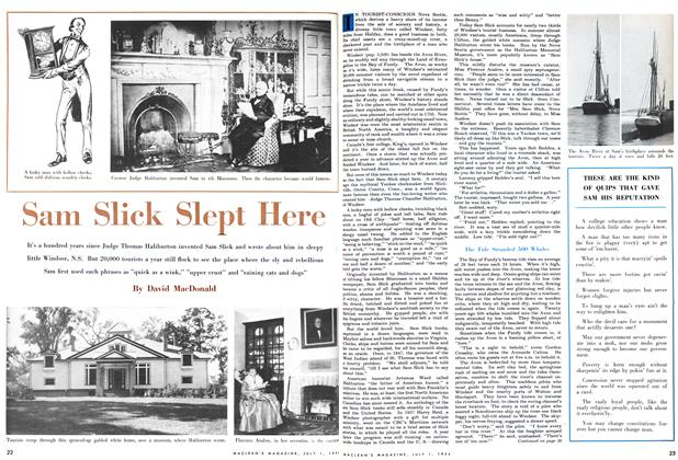 Article Preview: Sam Slick Slept Here, July 1954 | Maclean's