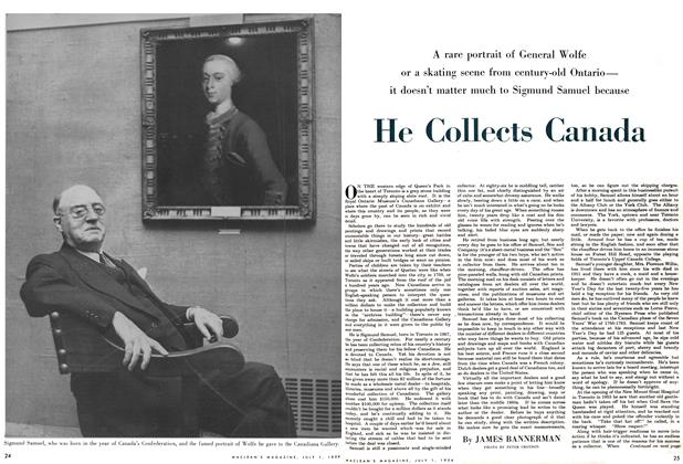 Article Preview: He Collects Canada, July 1954   Maclean's