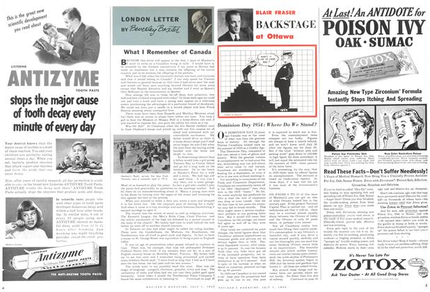 Article Preview: Dominion Day 1954:Where Do We Stand, July 1954 | Maclean's