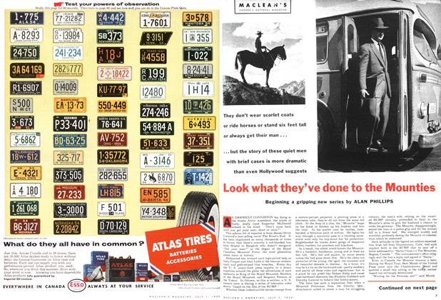 Article Preview: Look what they've done to the Mounties, July 1954 | Maclean's