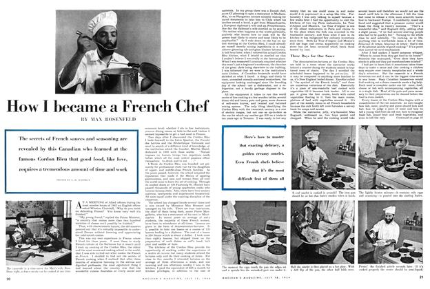 Article Preview: How I became a French Chef, July 1954 | Maclean's